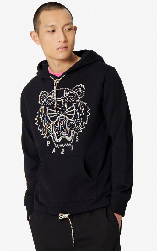 BLACK Tiger hoody for men KENZO