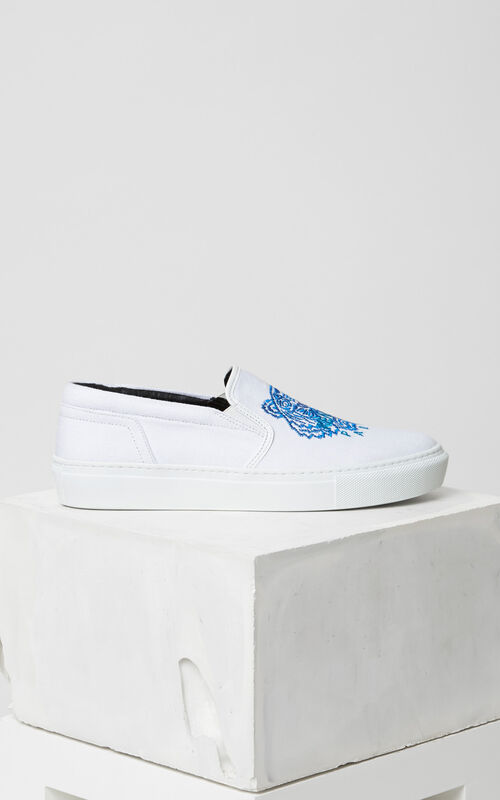 WHITE Tiger slip-on for women KENZO
