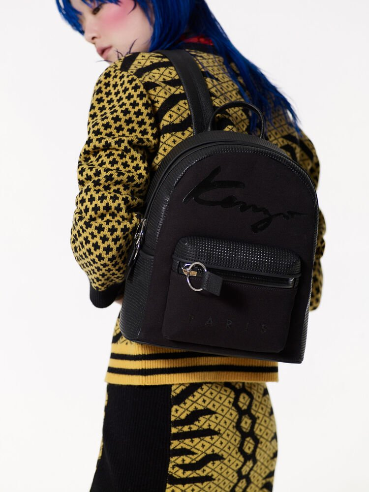 BLACK KENZO Signature backpack for women
