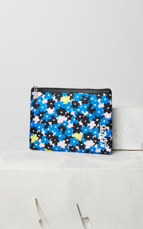 FRENCH BLUE 'Jackie Flowers' A4 Clutch for men KENZO