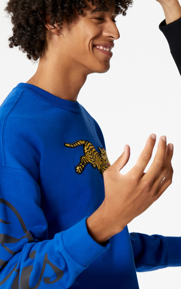FRENCH BLUE 'Jumping Tiger' sweatshirt 'Golden Week capsule' for men KENZO