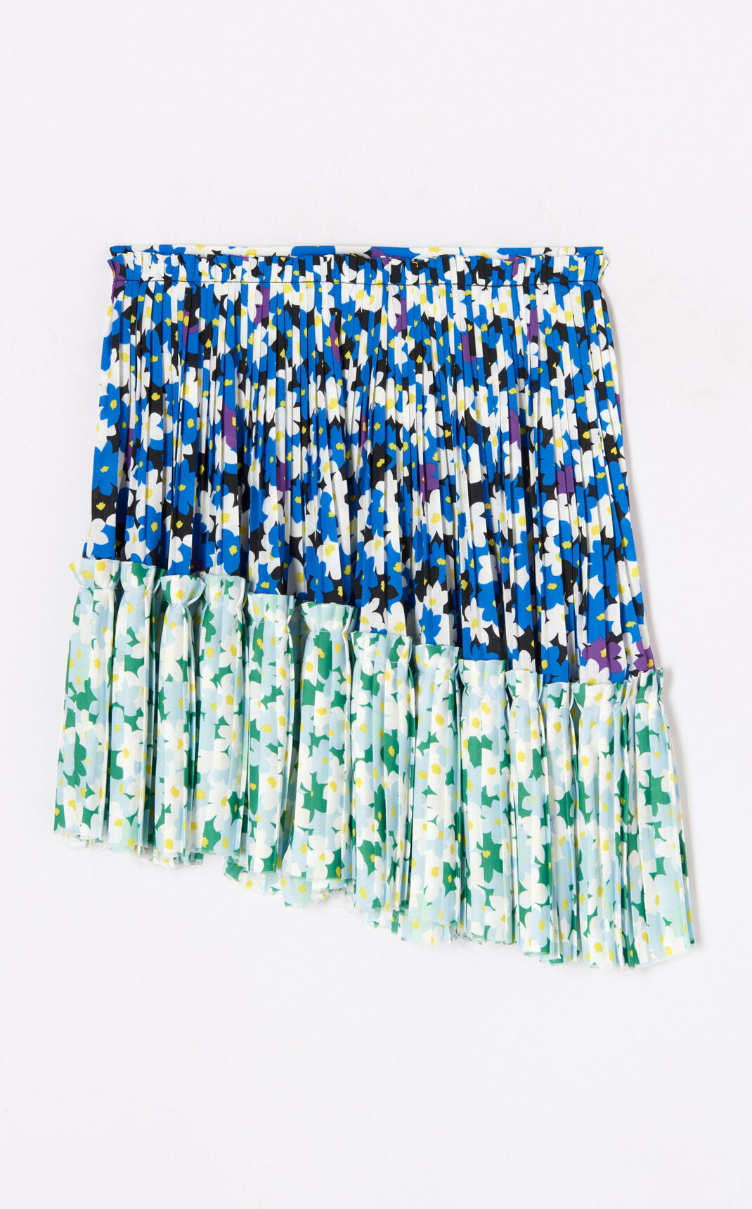 NAVY BLUE 'Jackie Flowers' pleated skirt for women KENZO