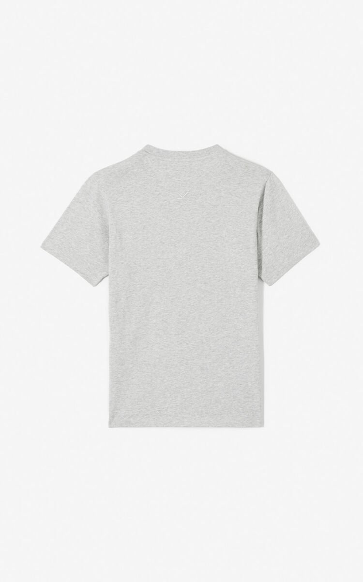 PEARL GREY 'Tiger Mountain' T-shirt for men KENZO
