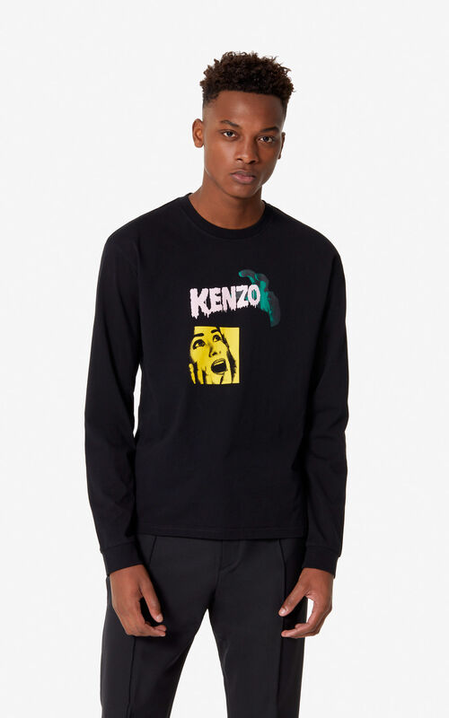 BLACK 'Scream' t-shirt for men KENZO