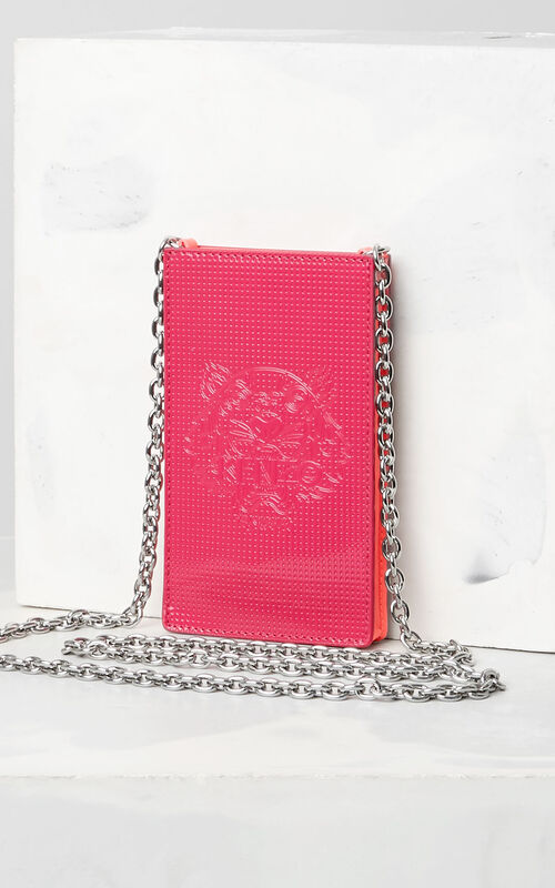 DEEP FUSCHIA Large Phone Holder on Chain for unisex KENZO
