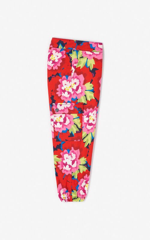 NAVY BLUE 'Japanese Flower' trousers for men KENZO