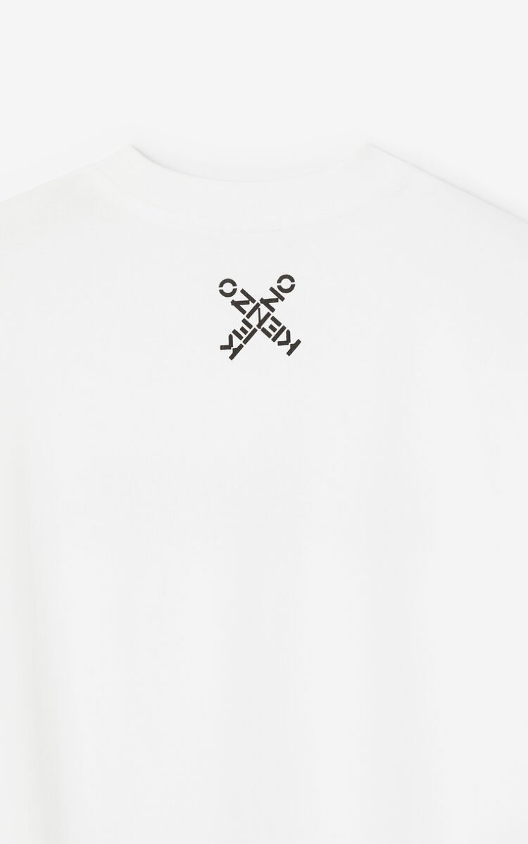 WHITE KENZO Sport loose T-shirt for women