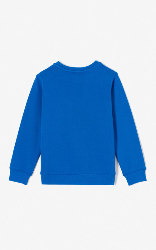 BLUE Tiger sweatshirt for unisex KENZO