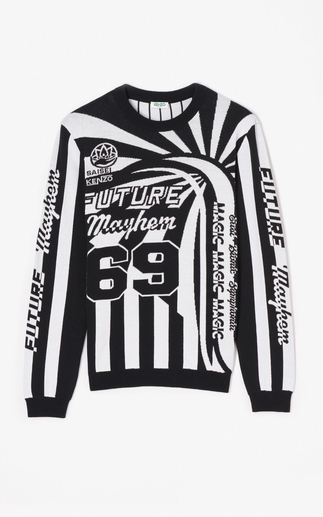 BLACK 'Hyper KENZO' Jumper with stripes for men