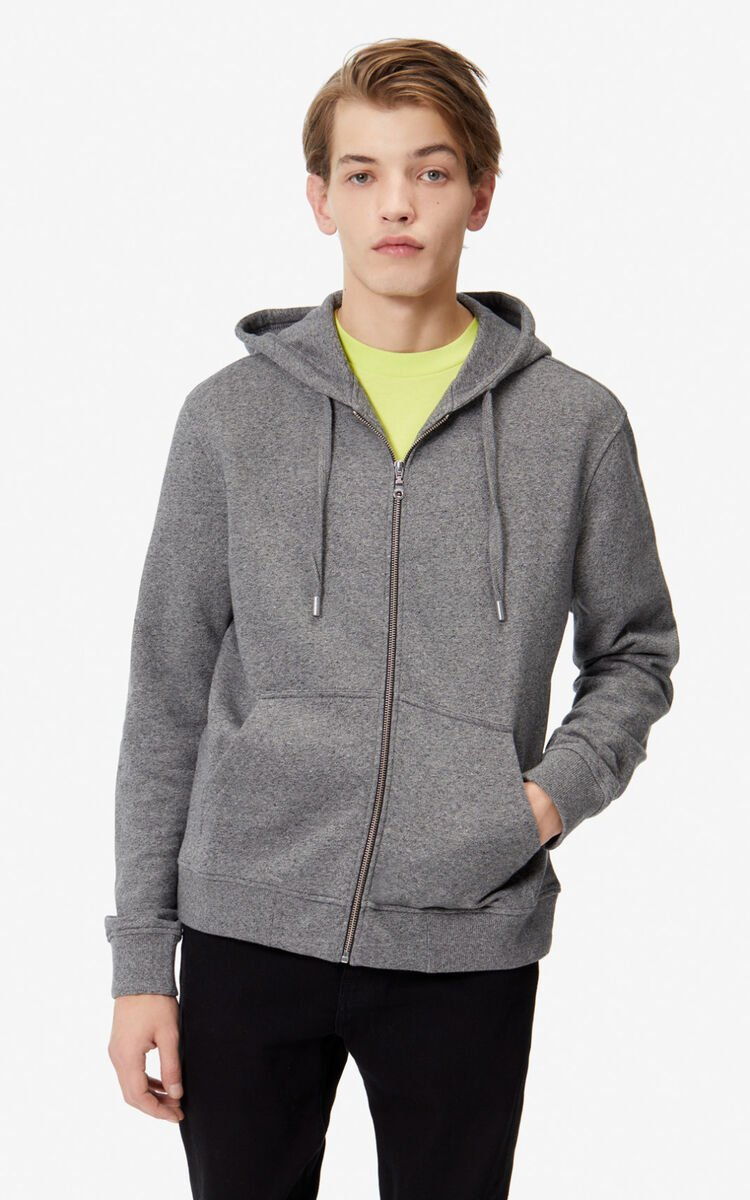 ANTHRACITE KENZO Logo Hoodie   for men