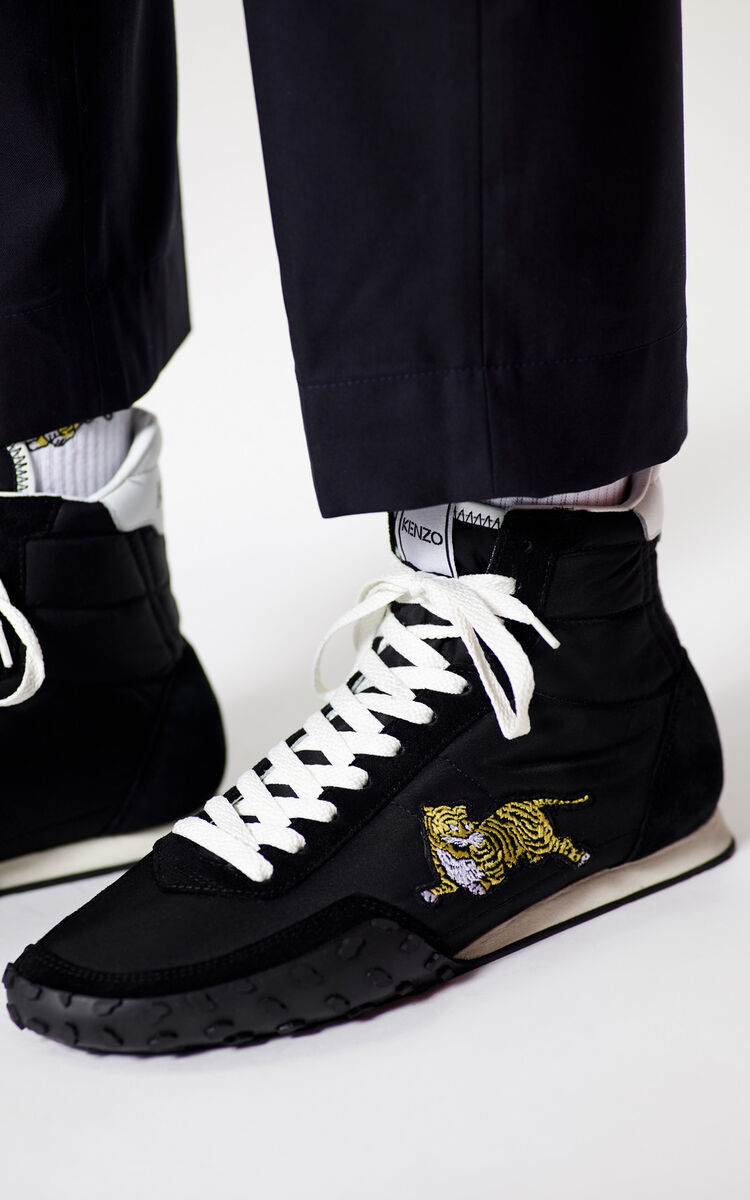 BLACK KENZO MOVE high-top sneakers for unisex