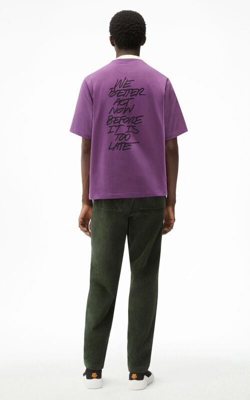 BLACKCURRANT 'Wildtigers' T-shirt for men KENZO