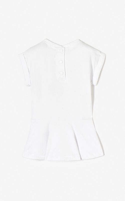 WHITE Tiger skater dress for men KENZO
