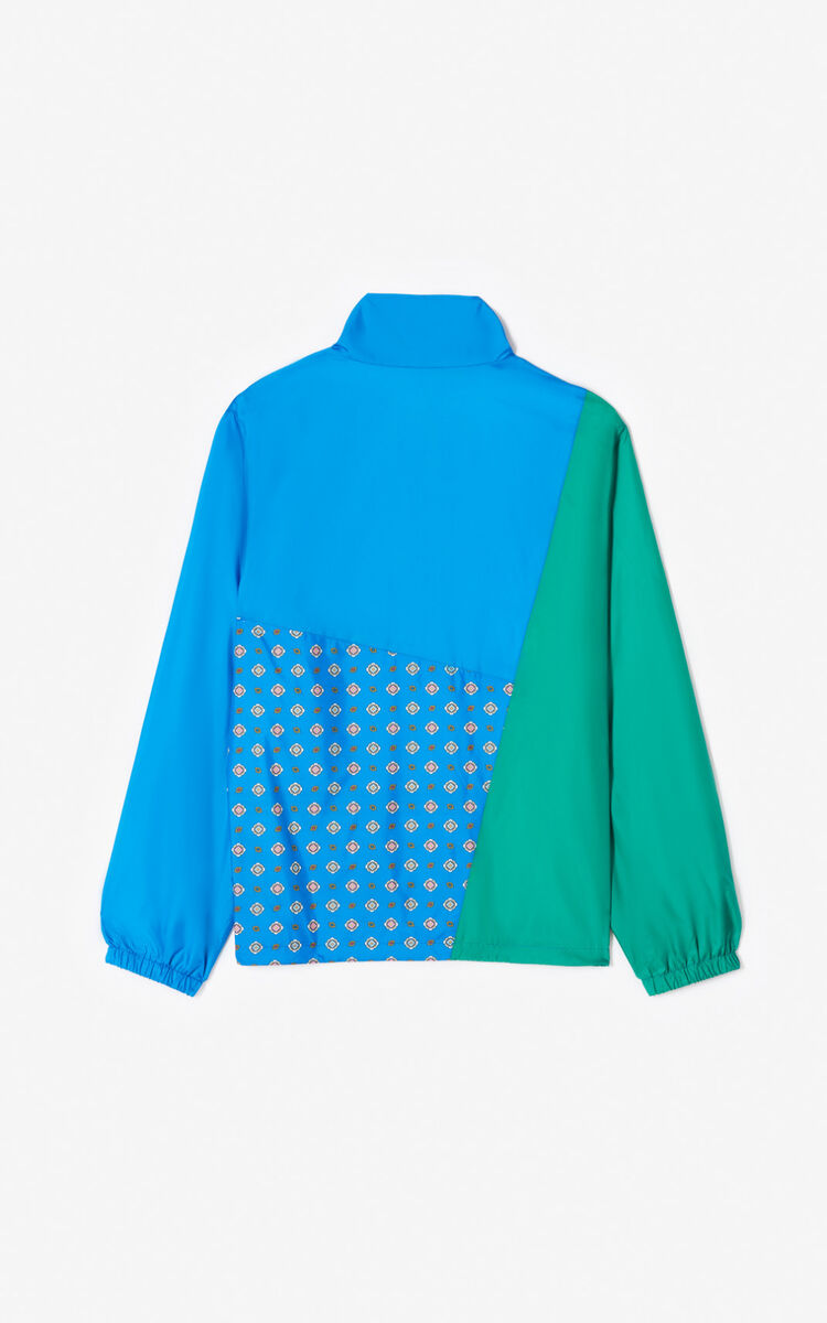COBALT 'Médaillons' colorblock windbreaker for women KENZO