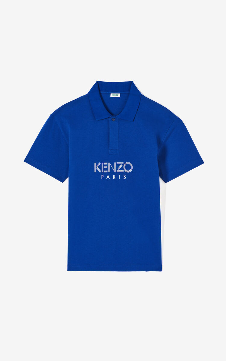 SLATE BLUE KENZO Paris polo shirt for men