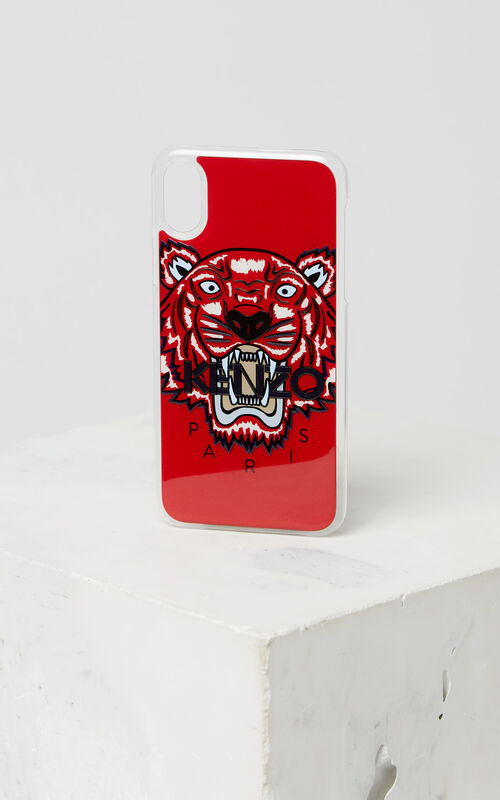 MEDIUM RED Tiger iPhone X/XS case for unisex KENZO