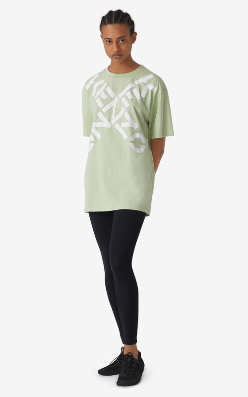 ALMOND GREEN KENZO Sport 'Big X' oversized t-shirt for women