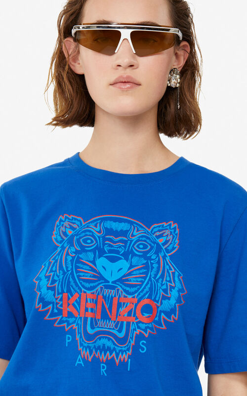 FRENCH BLUE Tiger t-shirt for women KENZO