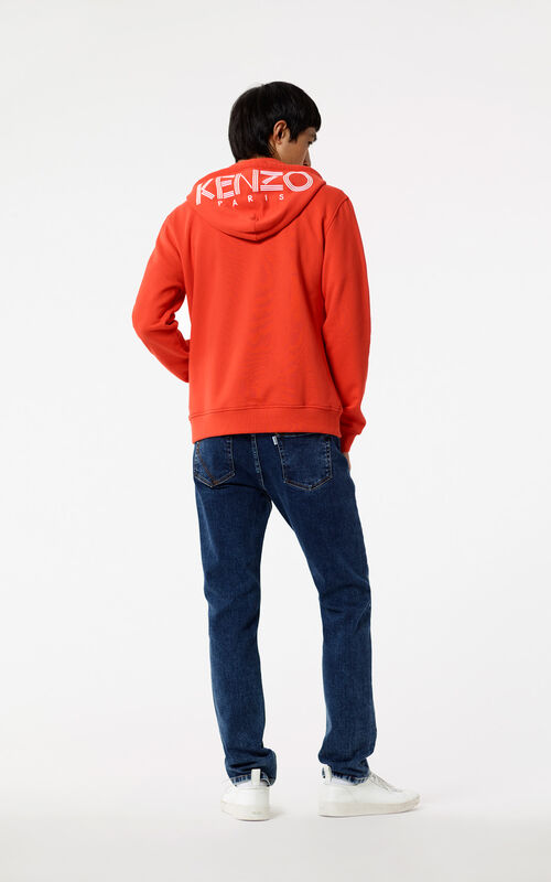 MEDIUM RED KENZO Logo Hoodie for men