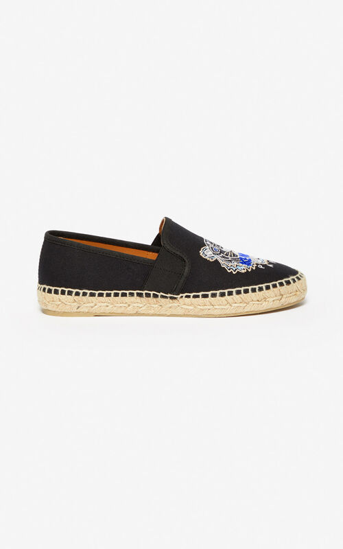 BLACK Tiger espadrilles for unisex KENZO