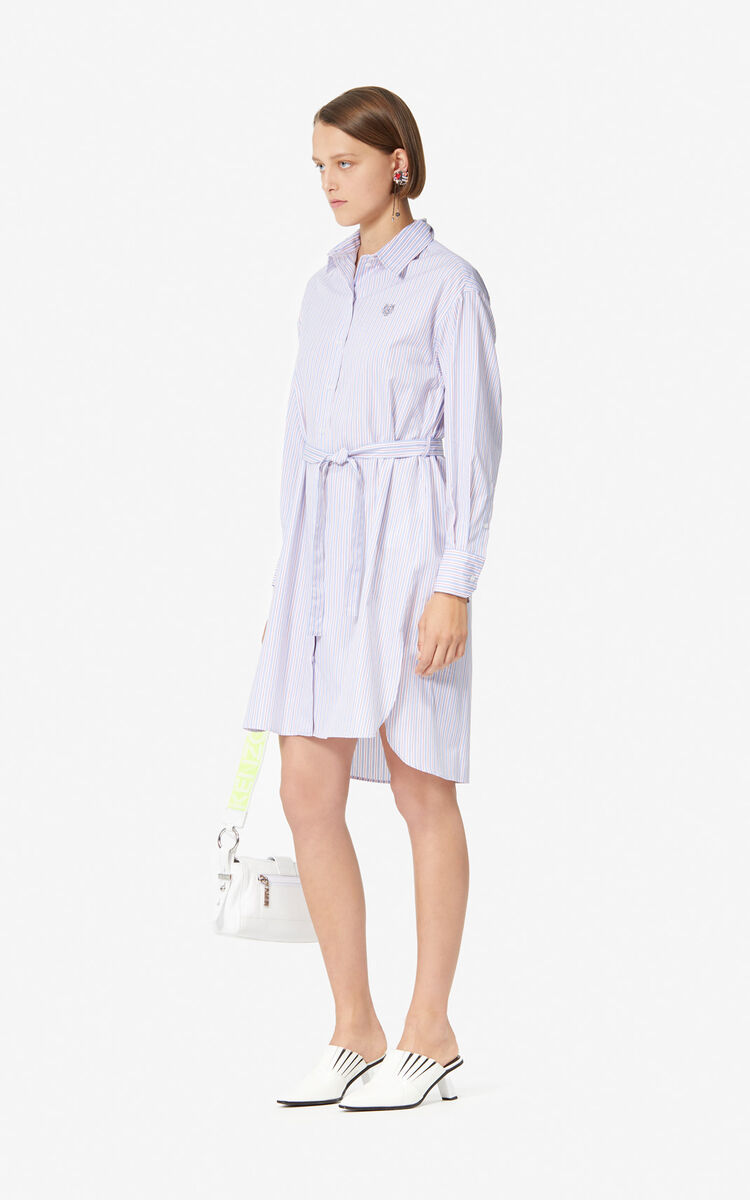 FRENCH BLUE Tiger striped shirt dress for women KENZO