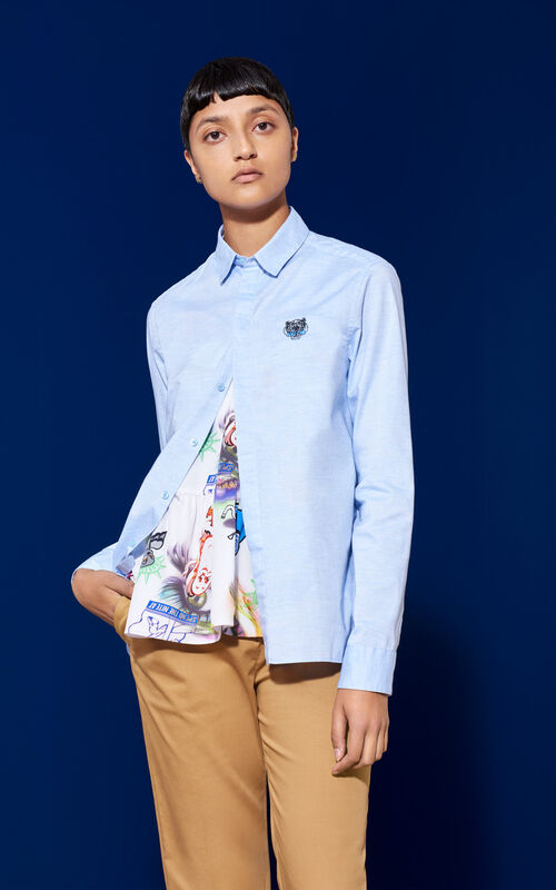 Tiger Crest Shirt , LIGHT BLUE, KENZO