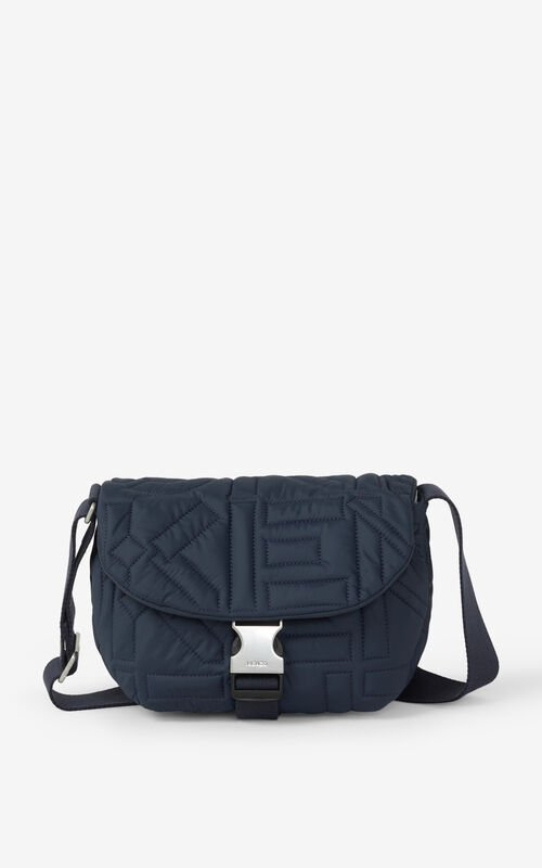 NAVY BLUE Arctik small messenger bag for unisex KENZO