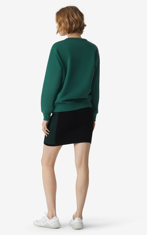 GREEN KENZO Sport 'Little X' sweatshirt for women