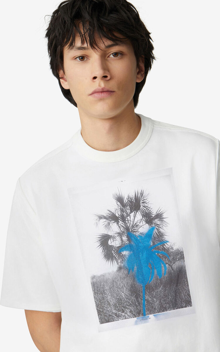 WHITE 'Hawaiian Graffiti' 'High Summer Capsule' oversize T-shirt for women KENZO