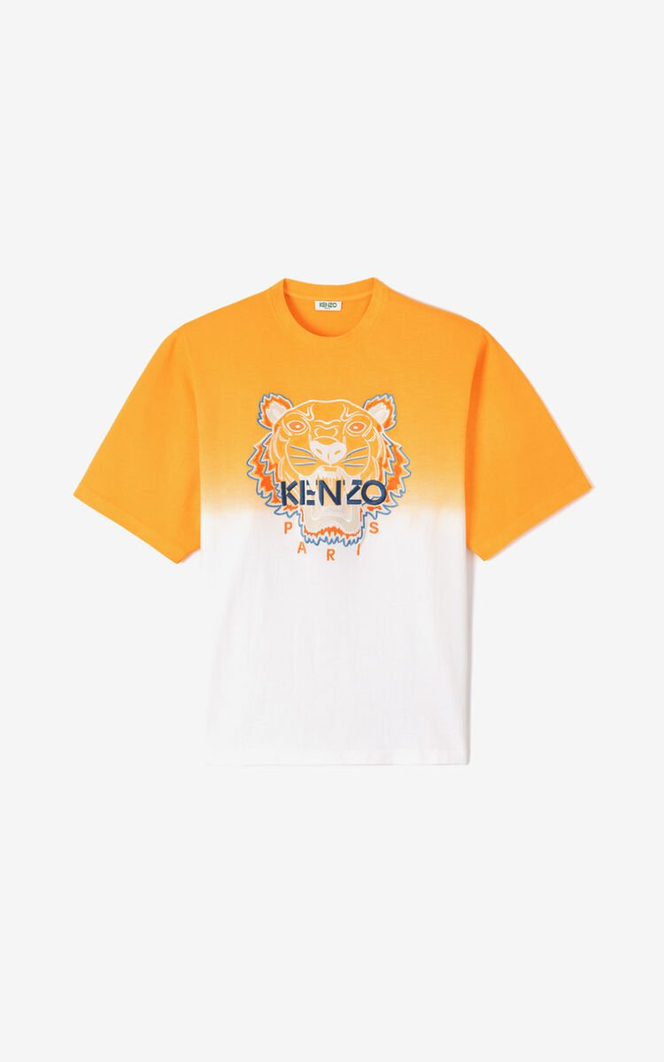 DEEP ORANGE Tiger gradient t-shirt for men KENZO