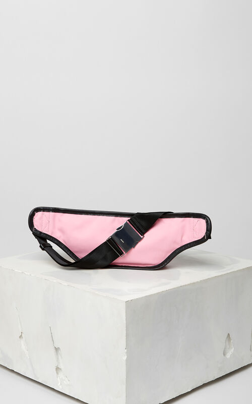 FLAMINGO PINK KENZO Logo banana bag for men