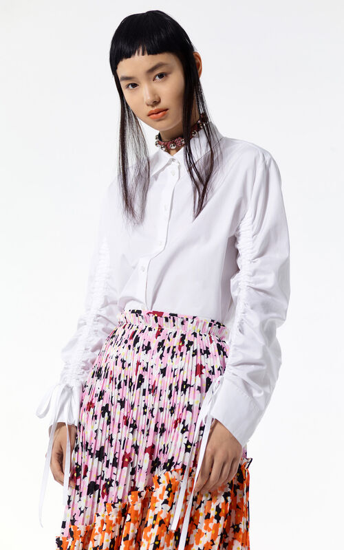 WHITE Ruffled shirt for women KENZO