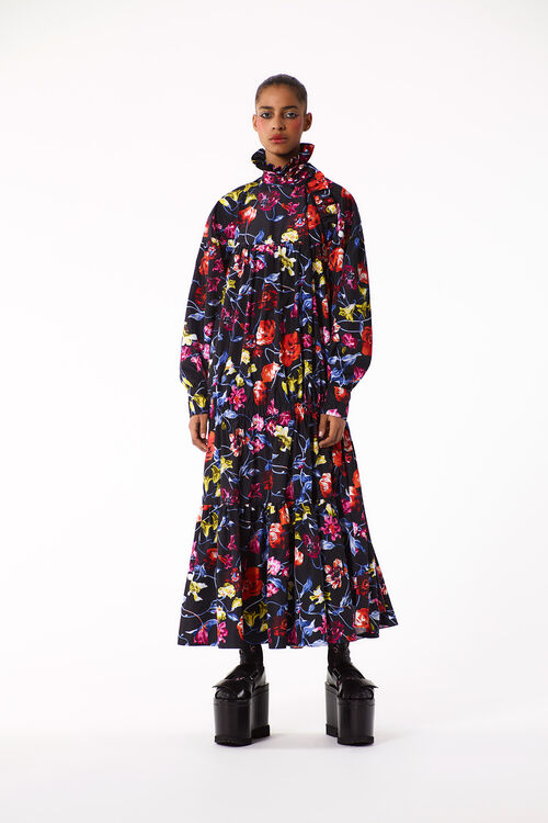 BLACK 'Wild Flowers' Maxi Dress for women KENZO