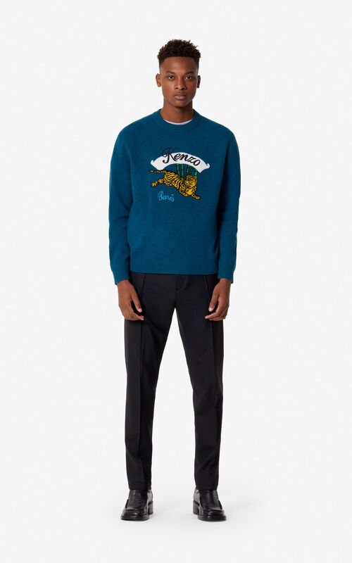 cccdb381ade2 ... PINE  Jumping Tiger  jumper for men KENZO.