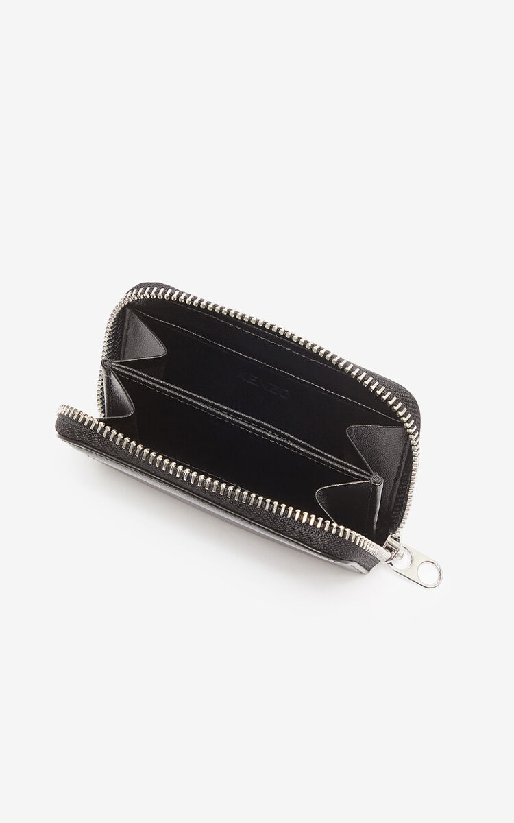 BLACK Eye coin purse with zip for women KENZO