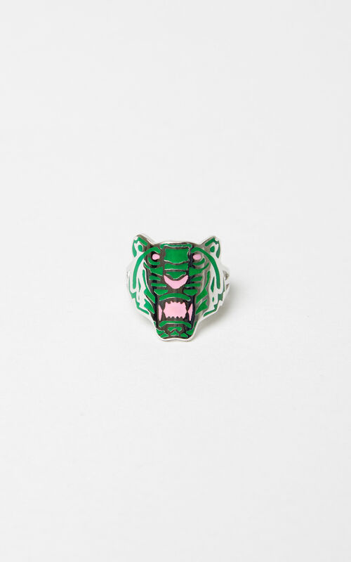 MEDIUM RED Colored Tiger ring KENZO