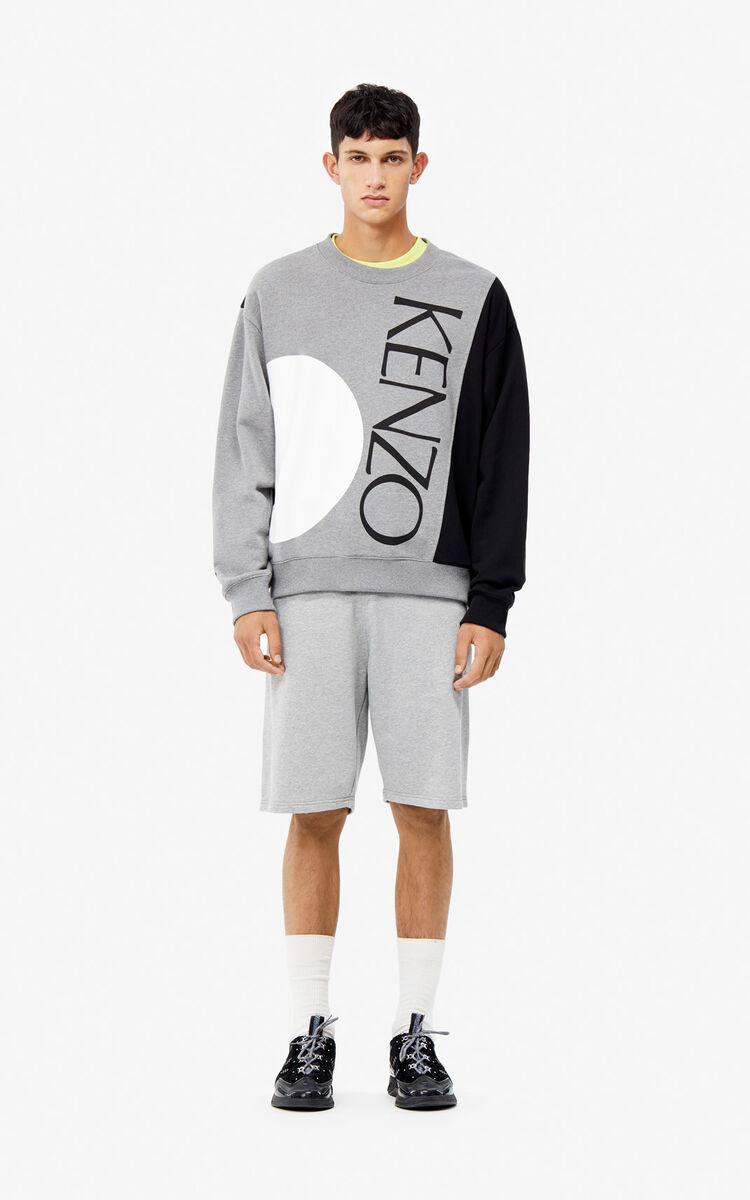 DOVE GREY Colour block sweatshirt for women KENZO