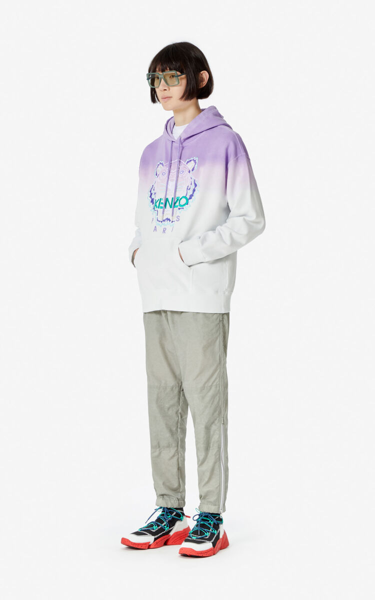 LAVENDER Hooded gradient Tiger sweatshirt for men KENZO