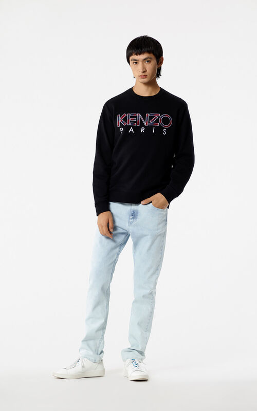 BLACK KENZO Paris sweatshirts for men