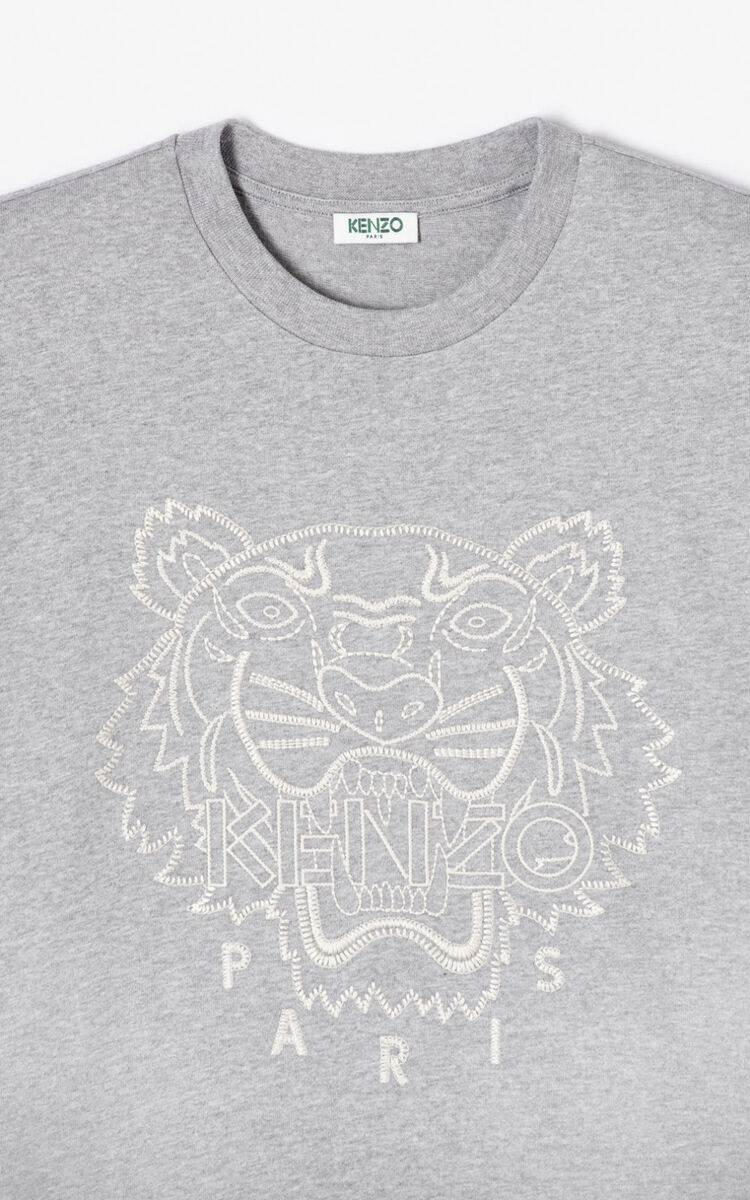 PEARL GREY 'Capsule Expedition' Tiger T-shirt for men KENZO