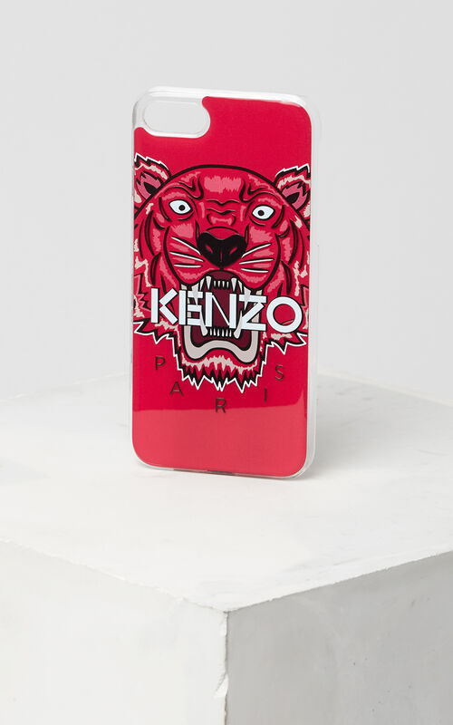 3D Tiger iPhone 7+ case, DEEP FUSCHIA, KENZO