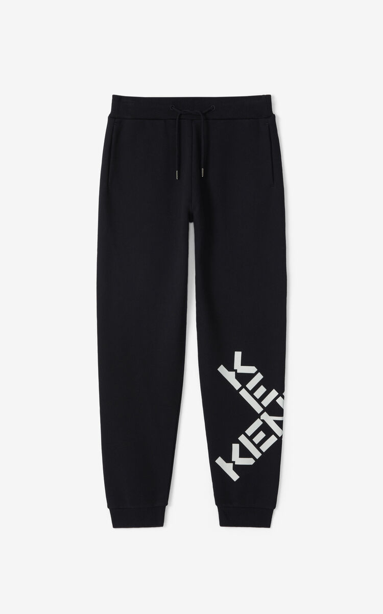 BLACK KENZO Sport 'Big X' jogging trousers for men
