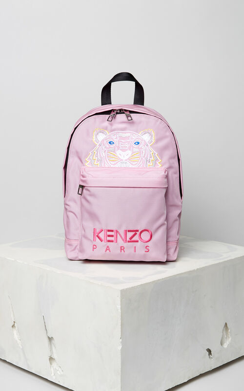 FLAMINGO PINK Medium Tiger Canvas backpack for unisex KENZO