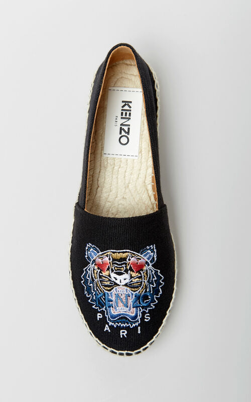 BLACK 'Valentine's Day Capsule' Tiger espadrilles for women KENZO