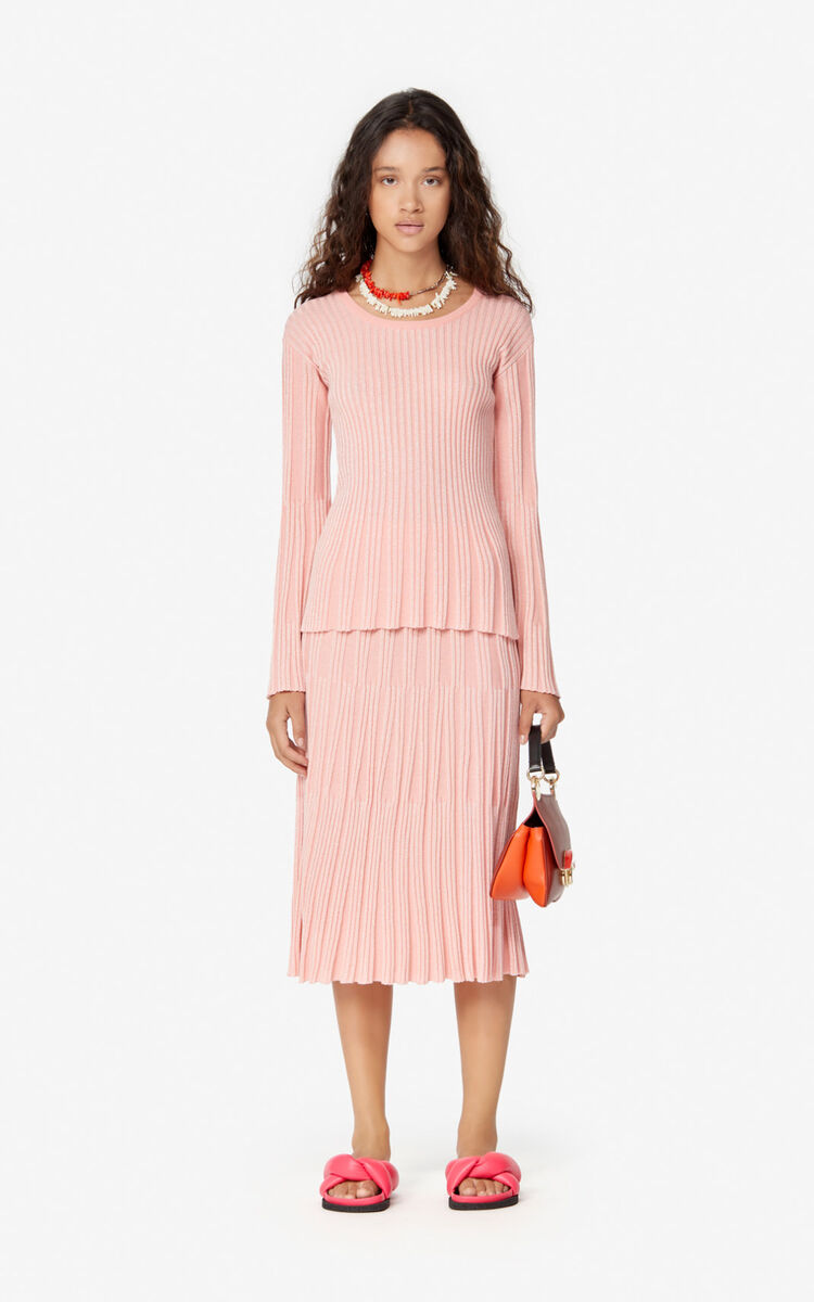 FLAMINGO PINK Pleated jumper for women KENZO