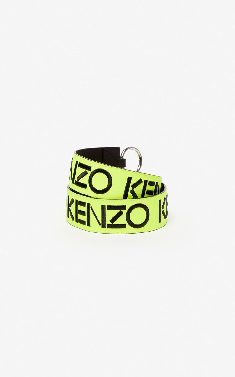 LEMON KENZO logo reversible leather shoulder strap for unisex