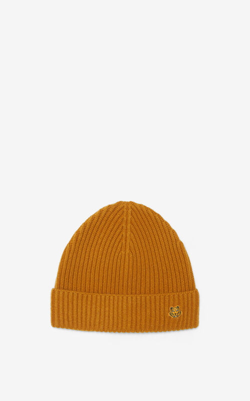 TABAC Tiger Crest wool hat for unisex KENZO
