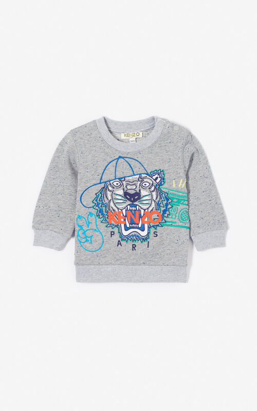 e909e805 Baby Boy · MIDDLE GREY 'Wax' Tiger sweatshirt for men KENZO ...