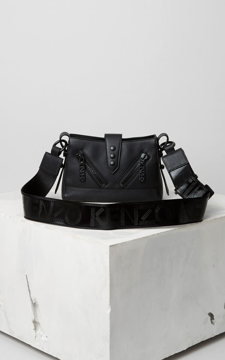 BLACK Mini Kalifornia Sport leather bag for unisex KENZO