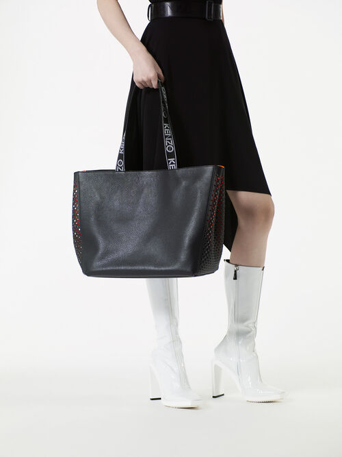 BLACK KENZO Sport Tote Bag for women
